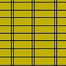 Lemon / Mustard Military Inspired Stripes by Melissa Park