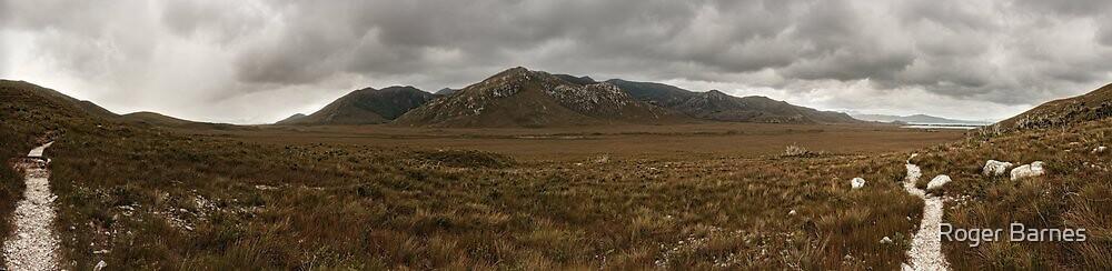 Cox's Bight Panorama, South Coast Track, Tasmania by Roger Barnes