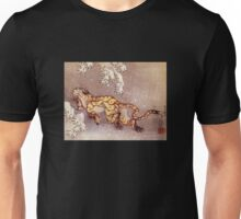 'Tiger in the Snow' by Katsushika Hokusai (Reproduction) Unisex T-Shirt