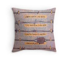 The Wire that Fenced the West Throw Pillow