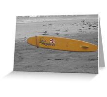 Lifegurd surfboard Greeting Card