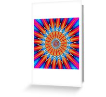 'Radial Orange' Greeting Card