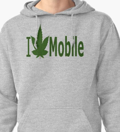 0266 I Love Mobile Pullover Hoodie