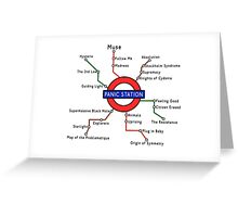 Panic Station Underground Map Greeting Card