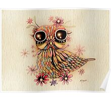 little flower owl Poster