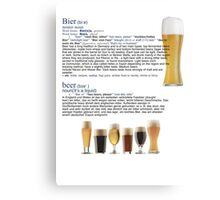 Beer The European hit around the world Canvas Print