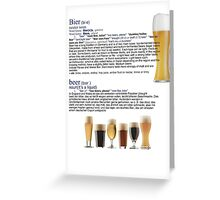 Beer The European hit around the world Greeting Card