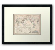 Atlas zu Alex V Humbolt's Cosmos 1851 0146 Die Gebirgsketten der Erde World Mountain Ranges Framed Print