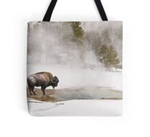 Bison Keeping Warm, Yellowstone National Park Tote Bag