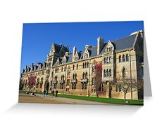 Christ Church College, Oxford, England Greeting Card
