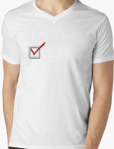 Note to self... Check drain plug Mens V-Neck T-Shirt