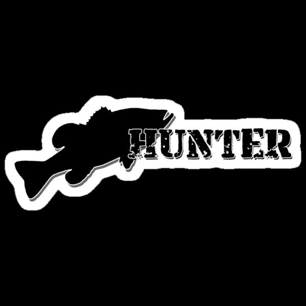 Bass Hunter - Bass fishing t-shirt by Marcia Rubin