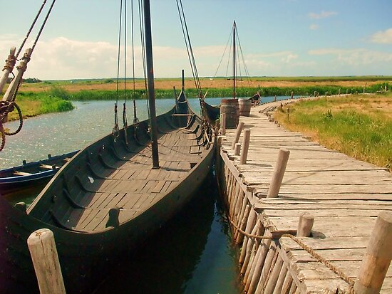 Viking Boat, Denmark by MichelleRees