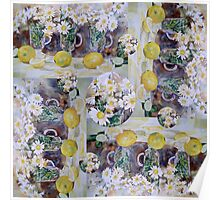 Scarf - Lemons and Daisies Poster
