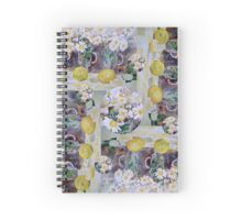Scarf - Lemons and Daisies Spiral Notebook