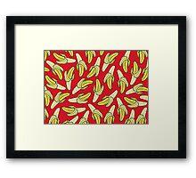 BANANA - RED Framed Print