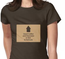 Coffee and Chocolate in Slot Womens Fitted T-Shirt