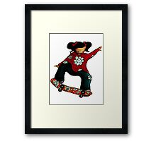 Skater Girl Framed Print