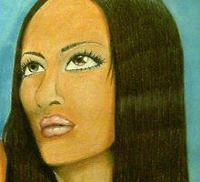 Black Mona Lisa by Demetria  Head