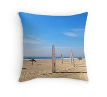 Surf Totems Throw Pillow