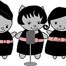 1960s Singing Cats Girl Group by ValeriesGallery
