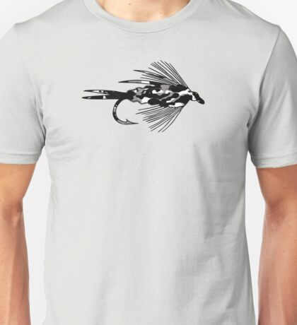 Black Camo Fly - Fly fishing t-shirt Unisex T-Shirt