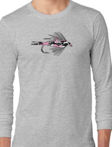 Pink Camo Fly - Fly Fishing T-shirt Long Sleeve T-Shirt