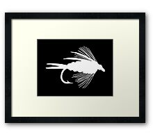 The Perfect White Fly Framed Print