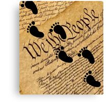 Walking on the Constitution by the Supreme Court Stickers, Shirts, Cases, Skins, Mugs Canvas Print