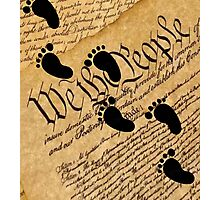 Walking on the Constitution by the Supreme Court Stickers, Shirts, Cases, Skins, Mugs Photographic Print