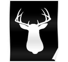 Beautiful Buck Silhouette Poster
