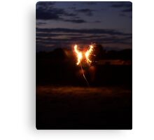 fourth of july wings Canvas Print