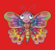 Rainbow Butterfly Baby Tee