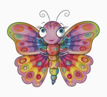 Rainbow Butterfly One Piece - Short Sleeve