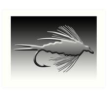 3D Fly Fishing Fly Art Print