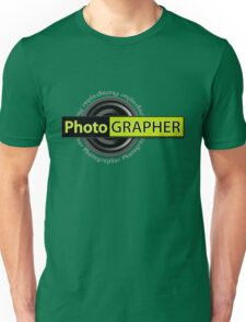 PhotoGRAPHER Short Sleeve Unisex T-Shirt