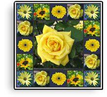 Golden Beauties Collage Canvas Print