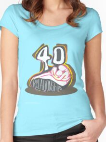 T-Shirt 40/85 (Relationships) by Simon Maggs Women's Fitted Scoop T-Shirt