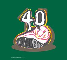 T-Shirt 40/85 (Relationships) by Simon Maggs Unisex T-Shirt