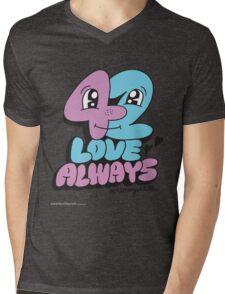 T-Shirt 42/85 (Relationships) by Jeremyville Mens V-Neck T-Shirt