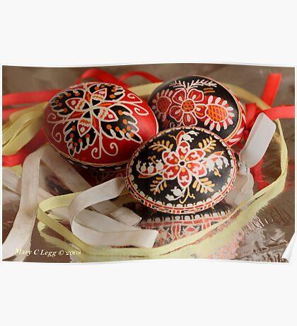 Three Czech Easter Eggs Poster