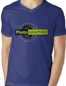 PhotoGRAPHER Long Sleeve Mens V-Neck T-Shirt
