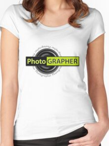 PhotoGRAPHER Girly Fitted Short Sleeve Women's Fitted Scoop T-Shirt
