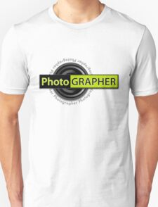 PhotoGRAPHER Girly Fitted Short Sleeve Unisex T-Shirt