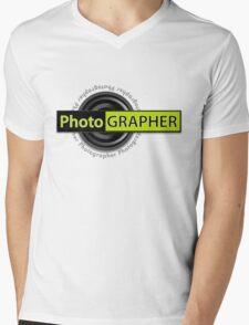 PhotoGRAPHER Girly Fitted Short Sleeve Mens V-Neck T-Shirt