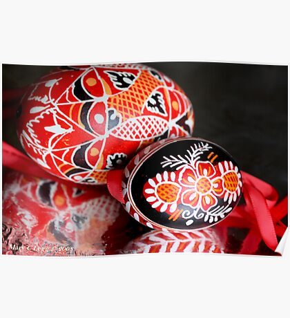 Two Czech Easter Eggs Poster