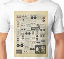 Button Your Eyes Unisex T-Shirt