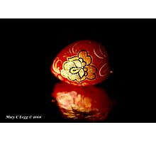 Red lacquered Easter Egg Photographic Print