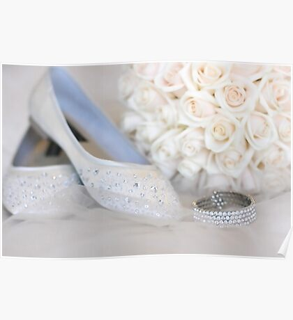 Slippers, Bracelet, Bouquet Poster