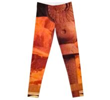 Orange Aztec Leggings
